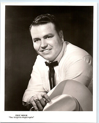 EDDIE MARVIN Vintage VIRGINIA NIGHTINGALE Publicity Photo COUNTRY MUSIC