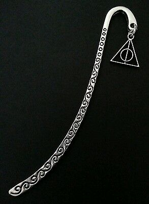 New Collectable Silver Alloy Harry Potter Deathly Hallows Charm Bookmark ***