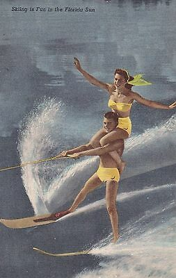 Water Skiing Show Cypress Gardens Winter Haven Florida Tropical  Series 194 F