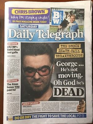 George Michael Daily Telegraph 14 January 2017 Australia
