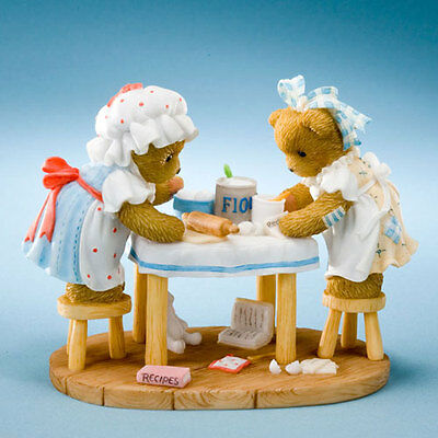 Cherished Teddies CT1103 Camy and Emmie cooking up some fun.NEW