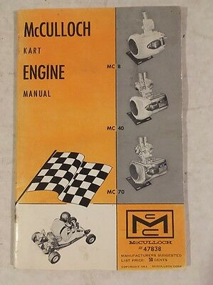 Mcculloch  Go Kart Engine Manual
