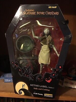 The Nightmare Before Christmas Active Label Series 1 Sally Cooking Action Figure
