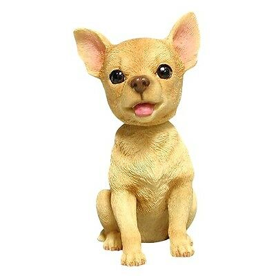 Chihuahua Puppy New Hand Painted Poly Resin Bobble Head Figurine Free Shipping