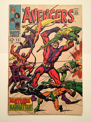 Marvel Comics 1968 #55 1st Full Appearance Ultron Silver Age Key Issue Fine