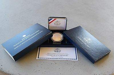 2001 P American Buffalo Commemorative Silver Coin Proof Box & COA Complete