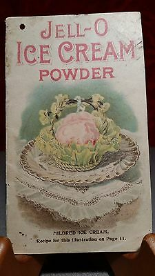 1905 JELL-O ICE CREAM POWDER Advertising Recipe Booklet Jello Antique - GOOD