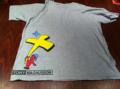Vintage tony magnusson  H-Street Skateboards T-Shirt large late 80's  very rare