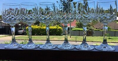 Vintage Bohemia Lead Crystal Set Of 6 Red Or White Wine Glasses