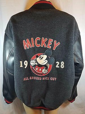 Disney Store Mickey Mouse Jacket Med All Around Nice Guy Varsity Exclusive