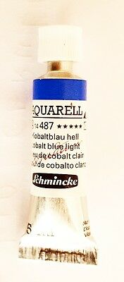 Schmincke 5Ml Watercolour Tube Cobalt Blue Light Series 4 Artist Quality