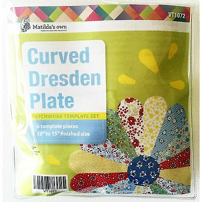 """Matilda's Own Curved Dresden Plate 10"""" to 15"""" Patchwork Template Set"""