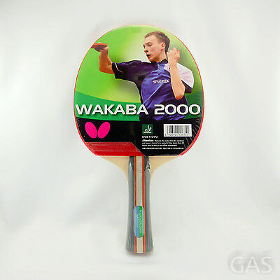 Butterfly Wakaba 2000 Table Tennis Bat Ping Pong Blade ITTF Approved Rubber