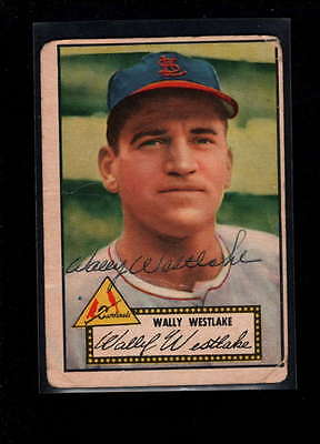 1952 Topps  #38 Wally Westlake Authentic On Card Autograph Signature Ax1879