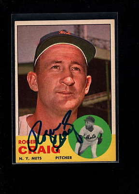 1963 Topps #197 Roger Craig Authentic On Card Autograph Signature Ax1982