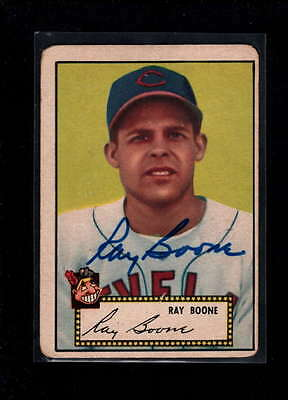 1952 Topps  #55 Ray Boone Authentic On Card Autograph Signature Ax1890