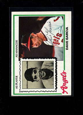 1978 Topps #656 Dave Garcia Authentic On Card Autograph Signature Ax2000