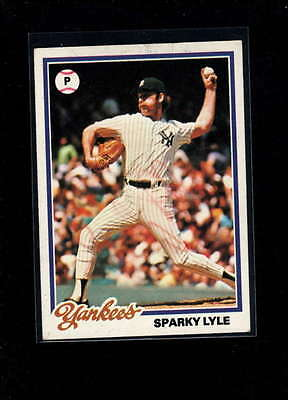 1978 Topps #35 Sparky Lyle Authentic On Card Autograph Signature Ax2006