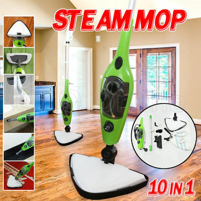10 in 1 Steam Mop Floor Carpet Kitchen Steaming Cleaning Handheld Water Cleaner