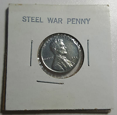 1943 Wartime Steel Cent US Penny AU/UNC Coin