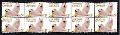 Samoyed Year Of The Dog Strip Of 10 Mint Stamps 6