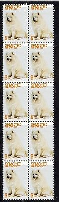 Samoyed Year Of The Dog Strip Of 10 Mint Stamps 4