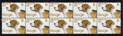 Beagle Year Of The Dog Strip Of 10 Mint Stamps 2