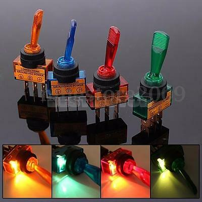 1/2/5/10 12V Light Illuminated Flick Toggle Panel Rocker Switch Boat Dashboard