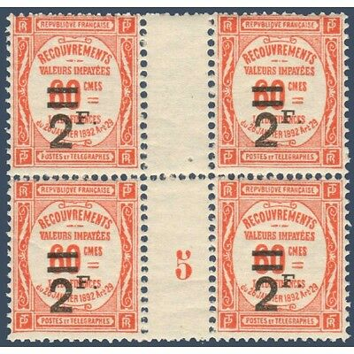 Taxe N°_54 Type De 1908 Surcharge, Bloc 4 Timbres Neufs** 1926