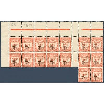 Taxe N°_53 Type De 1908 Surcharge, Feuille 16 Timbres Neufs** 1926