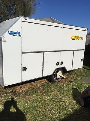 Trailer Enclosed Holds 3 Karts Plus Accessories