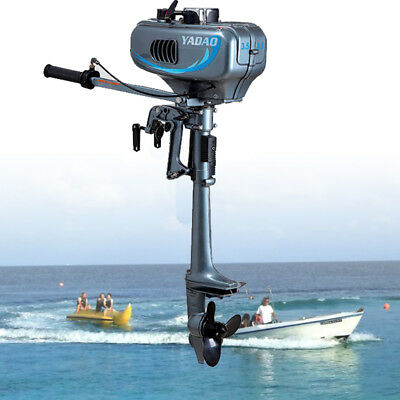 Hangkai 2 Stroke 3.5HP Outboard Motor Fishig Boat Engine w/Water Cooling System