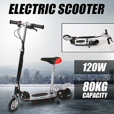 Electric Scooter 120W Height Adjustable Foldable Kids Children Ride with Seat AU