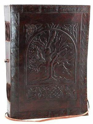 Leather Blank Book Sketchbook Journal Diary Notebook Vintage Classic Write Cover
