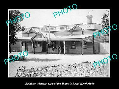 OLD LARGE HISTORIC PHOTO OF RAINBOW VICTORIA, VIEW OF THE ROYAL HOTEL c1910