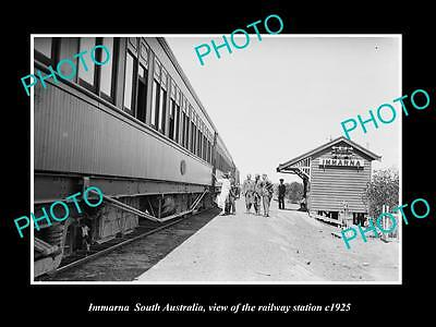 OLD LARGE HISTORIC PHOTO OF IMMARNA SOUTH AUSTRALIA, THE RAILWAY STATION c1925