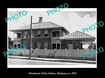 OLD LARGE HISTORIC PHOTO OF THE WOOLOOWIN POLICE STATION, c1925 BRISBANE QLD