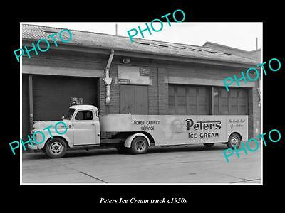 OLD LARGE HISTORIC PHOTO OF MELBOURNE VICTORIA, PETERS ICE CREAM TRUCK c1950 3