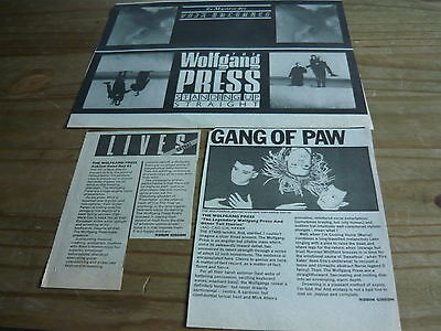 The Wolfgang Press - Magazine Cuttings Collection (Ref Sc)