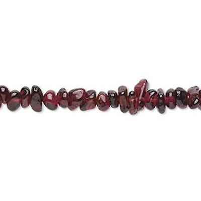 Garnet Chip Beads 36 inch Strand Approx 6/8mm *UK Ebay Bead Shop* Code 3650
