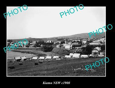 OLD LARGE HISTORIC PHOTO OF KIAMA NSW, VIEW OF TOWNSHIP c1900