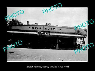 OLD LARGE HISTORIC PHOTO OF BRIGHT VICTORIA, VIEW OF THE STAR HOTEL c1930