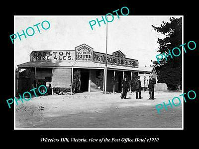 OLD LARGE HISTORIC PHOTO OF WHEELERS HILL VICTORIA, THE POST OFFICE HOTEL c1910
