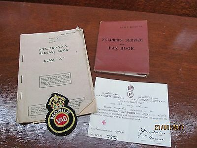 vintage army pay book and release book