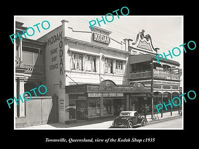 OLD LARGE HISTORIC PHOTO OF TOWNSVILLE QLD, THE KODAK PHOTOS STORE c1935