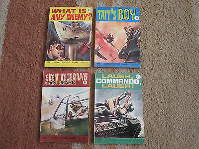 4 COMBAT PICTURE LIBRARY Comics from the 1960s