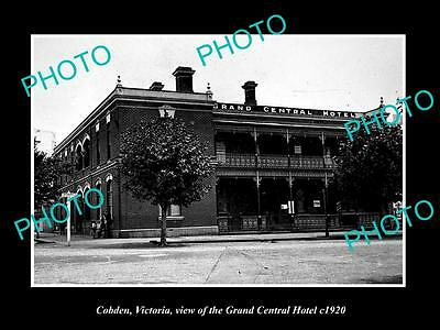 OLD LARGE HISTORIC PHOTO OF COBDEN VICTORIA, THE GRAND CENTRAL HOTEL c1920