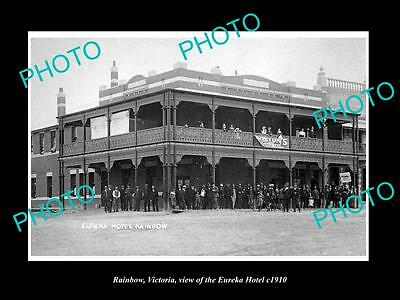 OLD LARGE HISTORIC PHOTO OF RAINBOW VICTORIA, VIEW OF THE EUREKA HOTEL c1910