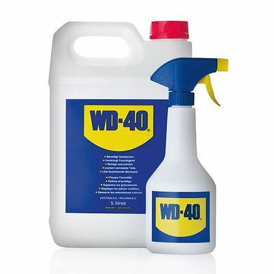Wd40 + Applicator Bottle 5 Litre 5L Spray Lubrication And Grime Removal Car Care