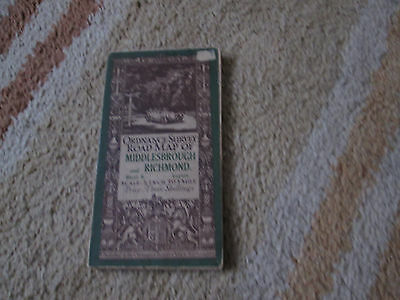 Vintage 1912 Ordnance Survey Road Map of Middlesbrough and Richmond (sheet 6)